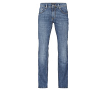 Rinsed Washed Jeans mit Stretch-Anteil