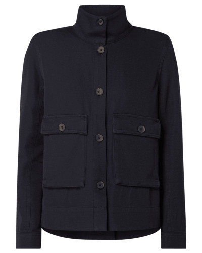 Jacke aus Baumwolle mit Pattentaschen