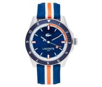 Uhr aus Edelstahl mit Textilband