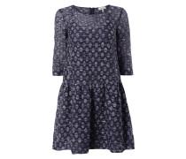 Kleid mit 3/4-Arm in Melangeoptik