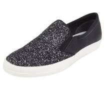 Slip-On Sneaker mit Glitter-Effekt