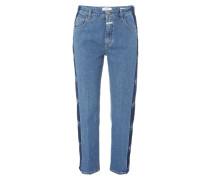 Girlfriend Fit Jeans mit seitlichen Schattierungen