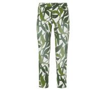 Slim Fit 5-Pocket-Jeans mit Blättermuster