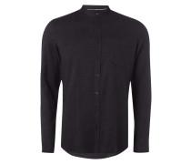 Slim Fit Flanellhemd mit feinem Streifenmuster