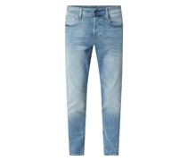 Straight Tapered Fit Jeans mit Stretch-Anteil Modell '3301'