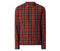 Regular Fit Flanellhemd aus Baumwolle Modell 'Loan'