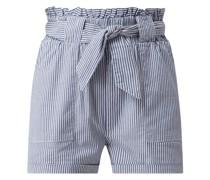 Shorts mit elastischem Paperbag-Bund Modell 'Smilla'