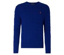 Pullover aus Baumwolle im Zopfstrick