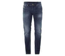 Stone Washed Regular-Straight Fit Jeans