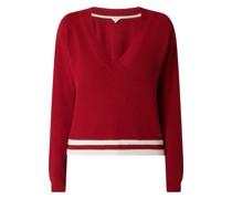 Pullover mit Kontrastsaum Modell 'Marietta'