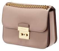 Crossbody Bag aus Glattleder mit Kettendetails