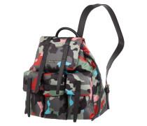 Rucksack mit Details aus Leder