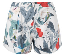 Shorts mit floralem Muster