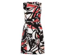 Kleid mit abstraktem Muster und Taillengürtel