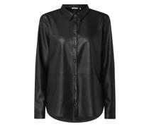 Bluse in Leder-Optik