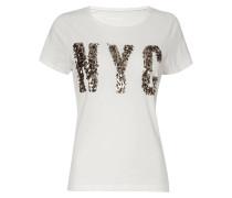 T-Shirt mit Motiv aus Pailletten