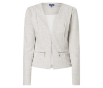Sweatblazer in Melangeoptik
