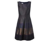 Kleid mit Jacquardmuster in Metallicoptik