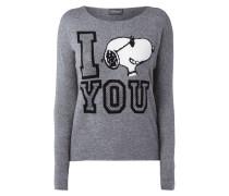 Pullover mit Snoopy-Motiv und Message