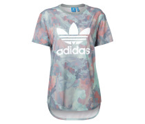 Vokuhila T-Shirt mit Camouflage-Muster