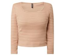 Cropped Shirt mit Stretch-Anteil Modell 'Gerdie'