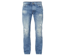 Destroyed Look Straight Fit 5-Pocket-Jeans