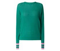 Pullover mit Kontrastabschlüssen