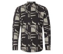 Slim Fit Hemd mit grafischem Muster