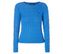 Pullover im Zopfstrick
