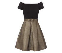 Two-Tone-Cocktailkleid mit Schleifen-Applikation
