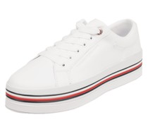 Plateau-Sneaker aus Leder
