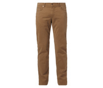Regular Fit 5-Pocket-Hose mit Futter