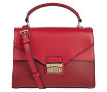 Handtasche aus Leder mit doppeltem Überschlag