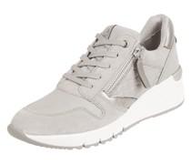 Sneaker Wedges aus Leder und Textil