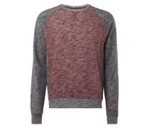 Sweatshirt mit Kontrastdetails - meliert