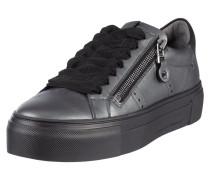 Plateau-Sneaker aus Leder in Metallicoptik