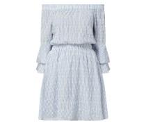 Off-Shoulder-Kleid aus Lochspitze