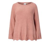 PLUS SIZE - Boxy Fit Pullover aus Samtgarn