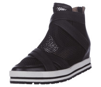 High Top Sneaker mit Kontrasteinsatz aus Mesh