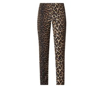 Regular Fit Stretchhose mit Leopardenmuster Modell 'Zene'