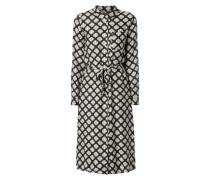 Blusenkleid mit ornamentalem Muster