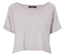 Pullover mit Besatz aus Seide