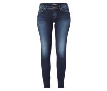 Used Super Skinny Fit Jeans mit Ziernähten