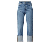 Straight Fit High Waist Jeans mit Stretch-Anteil Modell 'Angy'