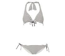Bikini mit Streifenmuster