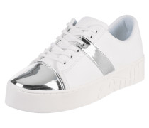 Sneaker mit Details in Metallicoptik