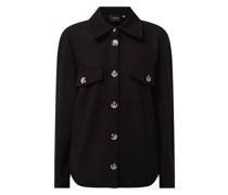Oversized Jacke mit Knopfleiste Modell 'Dafneally'