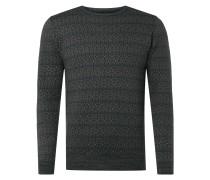 Pullover mit eingearbeitetem Allover-Muster