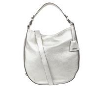 Hobo Bag aus Leder in Metallicoptik
