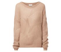 Pullover mit Lochstrickdetails